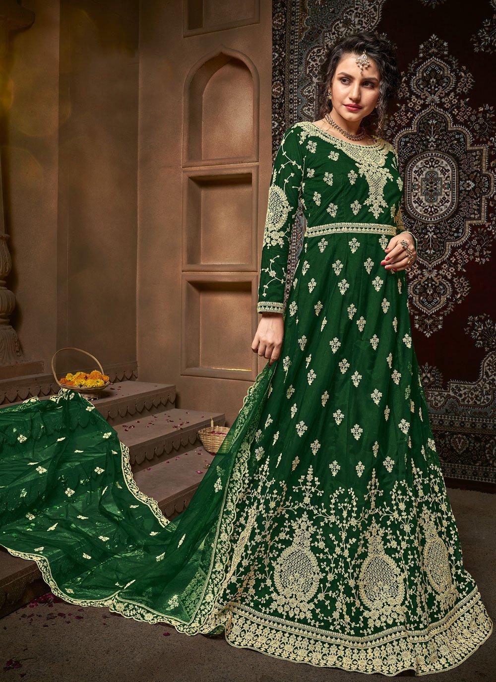 Net Green Trendy Salwar Suit