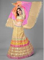 Net Lehenga Choli in Multi Colour
