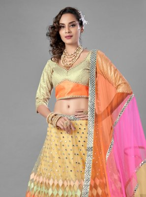 Net Lehenga Choli in Multi Colour