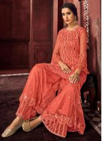 Net Mehndi Designer Palazzo Suit