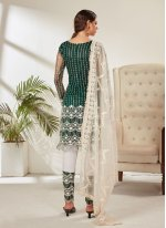 Net Pant Style Suit in Green