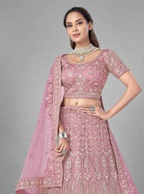 Net Pink Fancy Lehenga Choli
