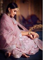 Net Pink Thread Designer Pakistani Salwar Suit