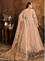 Net Resham Floor Length Anarkali Suit
