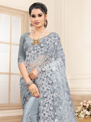 Net Resham Traditional Saree