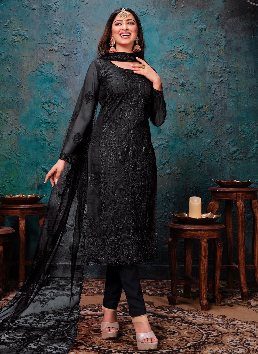 Net Sangeet Churidar Designer Suit