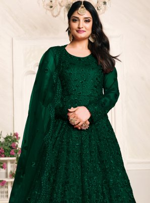 Net Sangeet Floor Length Anarkali Suit