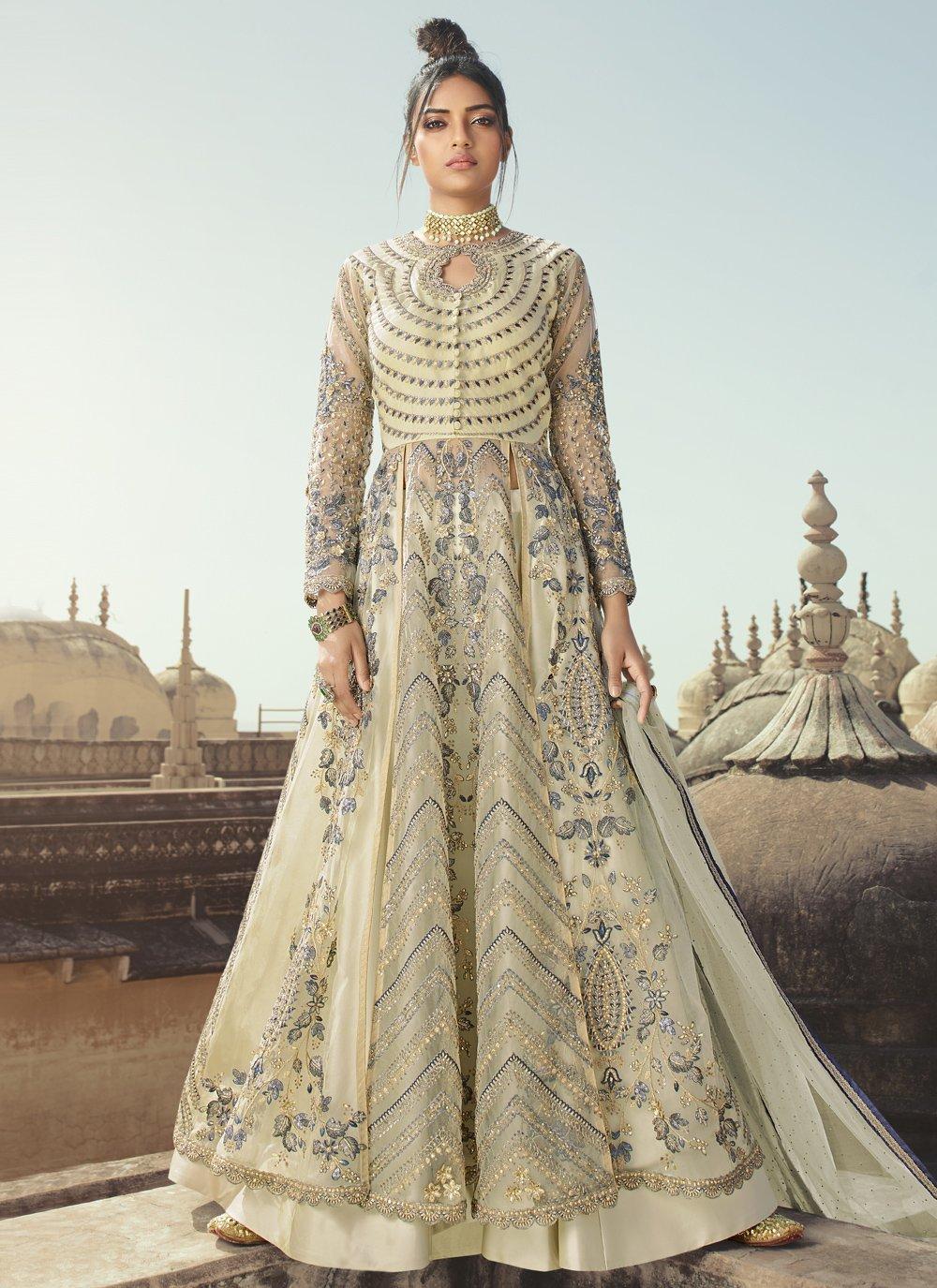 Net Sequins Designer Long Lehenga Choli
