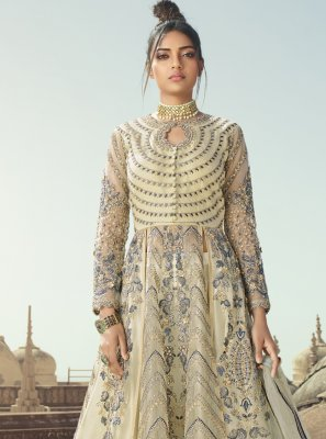 Net Sequins Designer Long Lehenga Choli