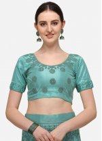 Net Turquoise A Line Lehenga Choli
