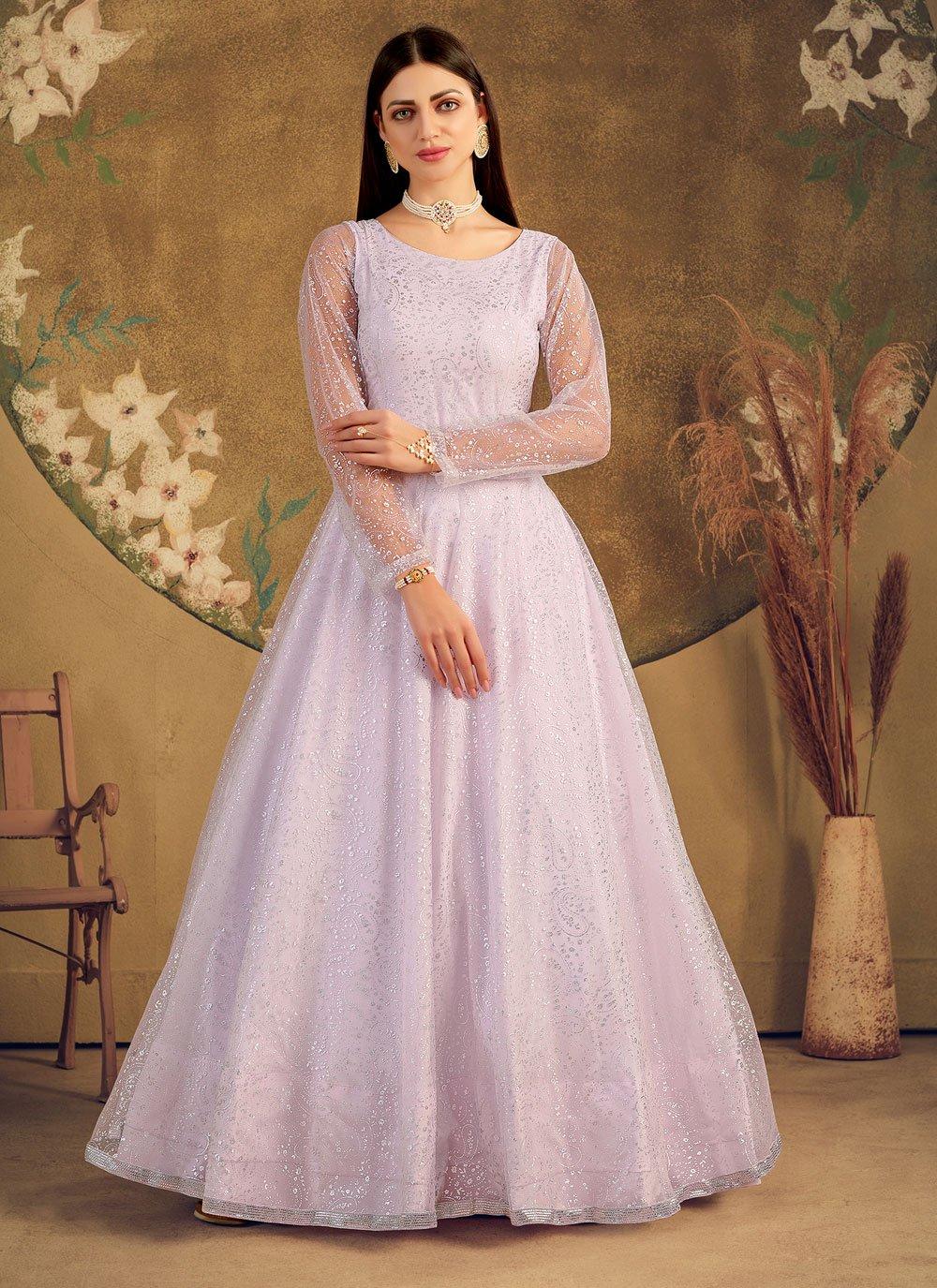 Net Violet Designer Gown