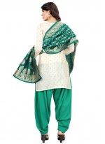 Off White and Rama Festival Designer Patiala Suit