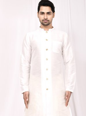 Off White Buttons Mehndi Indo Western