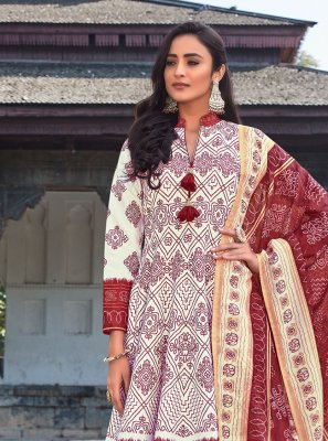 Off White Ceremonial Readymade Anarkali Suit