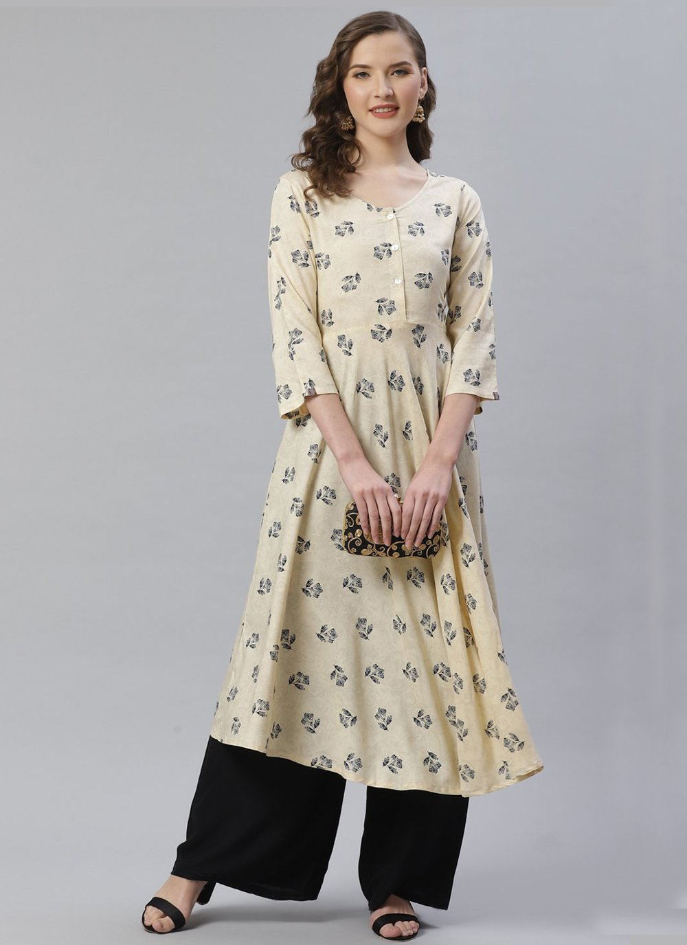 Off White Color Designer Kurti