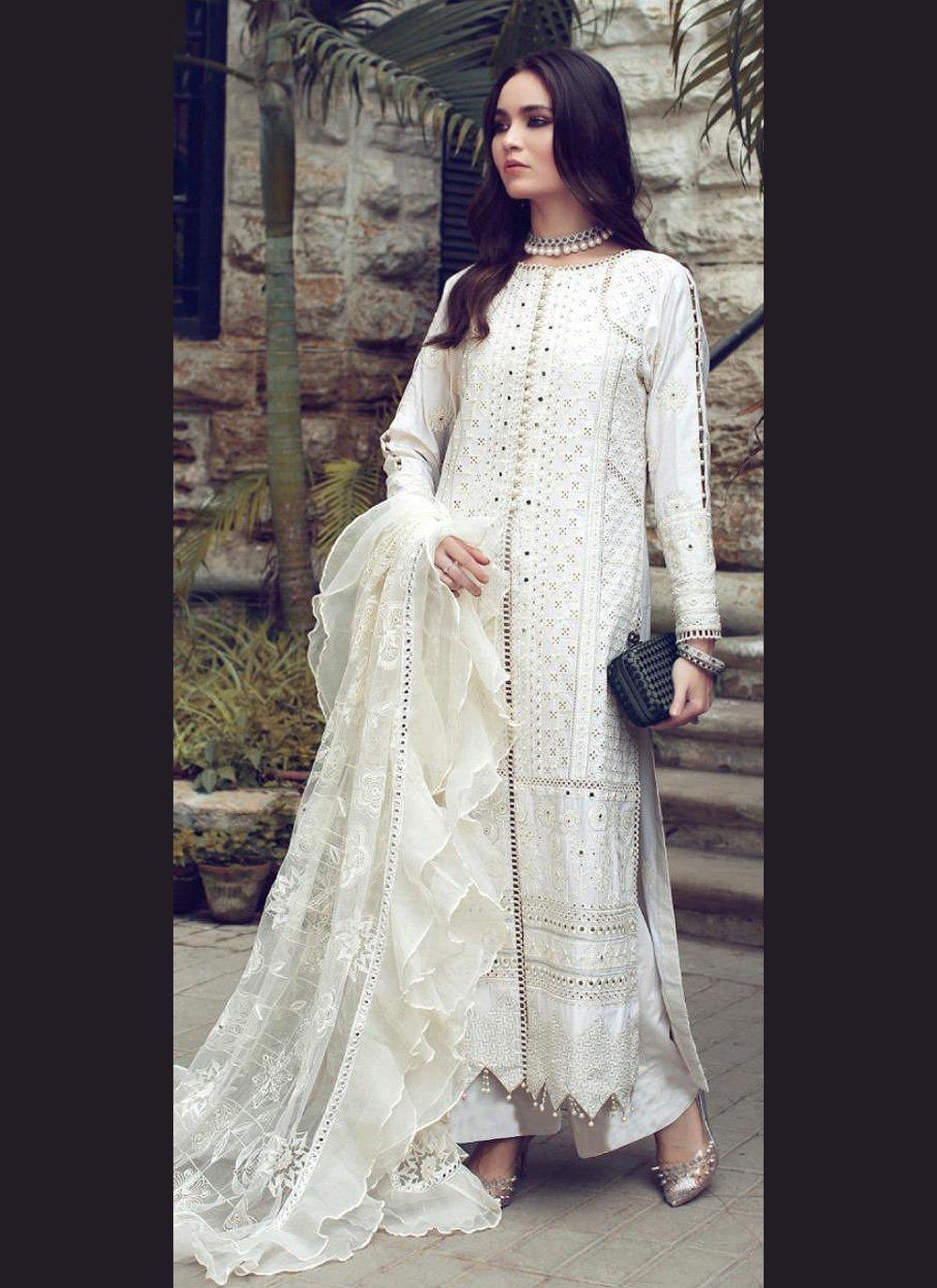 Off White Color Designer Straight Suit
