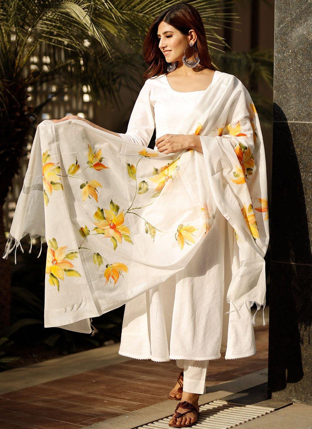 Off White Color Designer Suit