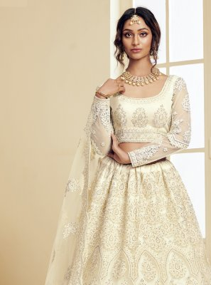 Off White Embroidered Lehenga Choli