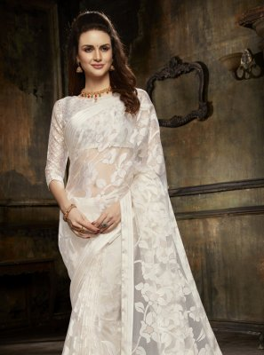 Off White Fancy Designer Saree