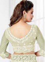 Off White Net Trendy Saree