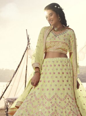 Off White Organza Lehenga Choli