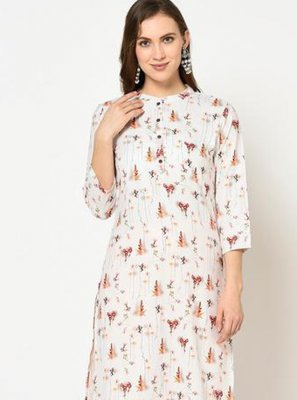 Off White Party Wear Kurti
