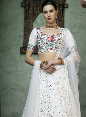 Off White Reception Lehenga Choli