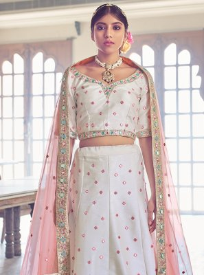 Off White Sangeet Lehenga Choli