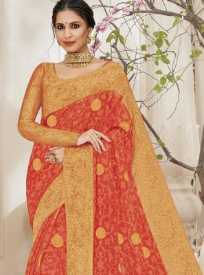 Orange Color Bollywood Saree