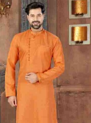 Orange Color Kurta Pyjama