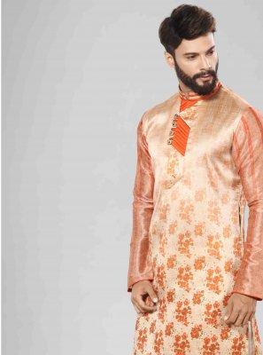 Orange Color Kurta Pyjama