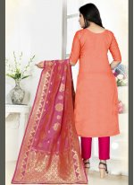 Orange Color Straight Salwar Kameez