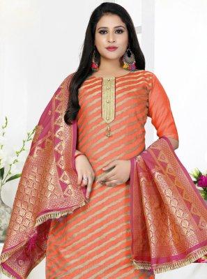 Orange Color Straight Salwar Kameez