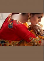 Orange Fancy Fabric Designer Saree