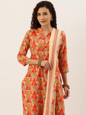 Orange Palazzo Salwar Suit