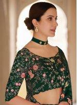 Organza Sequins Green Classic Designer Saree
