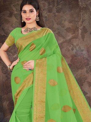 Organza Weaving Designer Traditional Saree in Green