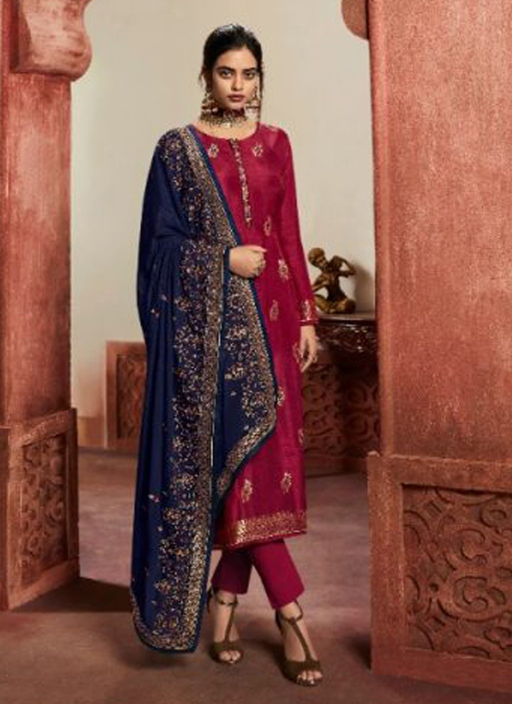 Pant Style Suit For Mehndi
