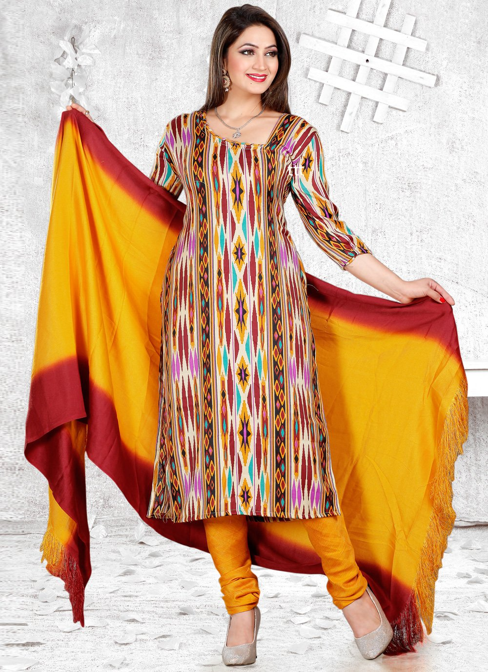 Pashmina Festival Churidar Suit