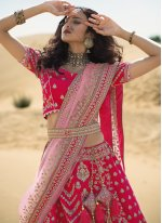 Patch Border Art Silk A Line Lehenga Choli