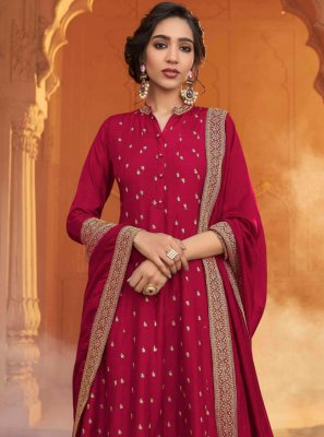 Patch Border Ceremonial Designer Floor Length Salwar Suit