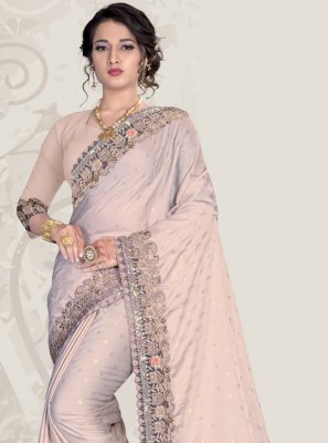 Patch Border Ceremonial Trendy Saree
