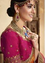 Patch Border Engagement Designer Traditional Saree