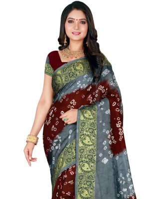 Patch Border Festival Traditional Designer Saree