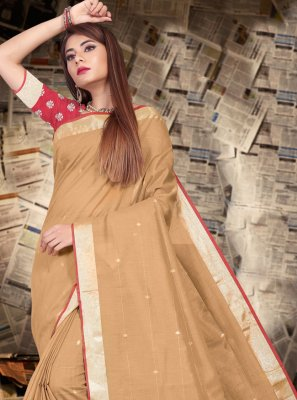 Patch Border Linen Contemporary Saree