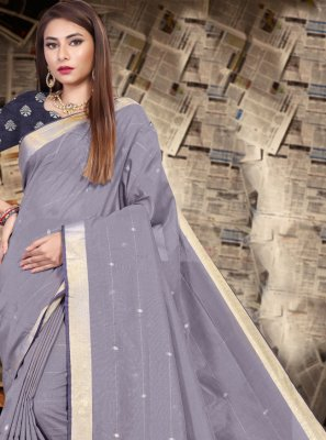 Patch Border Party Classic Saree