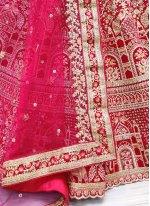 Patch Border Pink Lehenga Choli