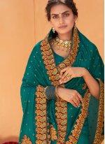 Patch Border Rama Classic Designer Saree