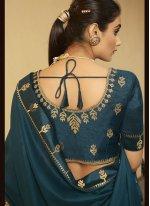 Patch Border Rama Silk Traditional Designer Saree