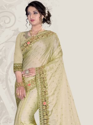 Patch Border Satin Classic Designer Saree